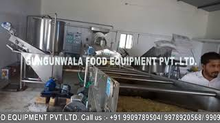 Fully Automatic Pellet Frying Line with Wooden Boiler
