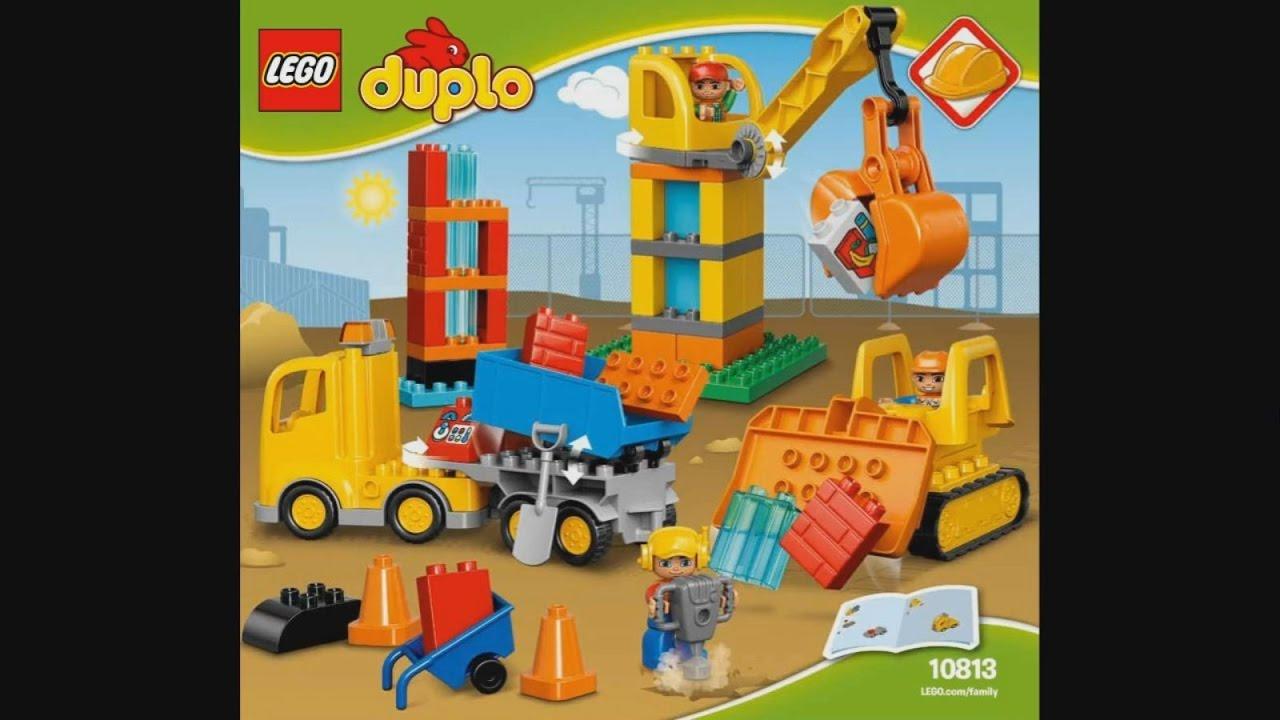 Lego Duplo 10813 Big Construction Site Instruction Timelapse Youtube