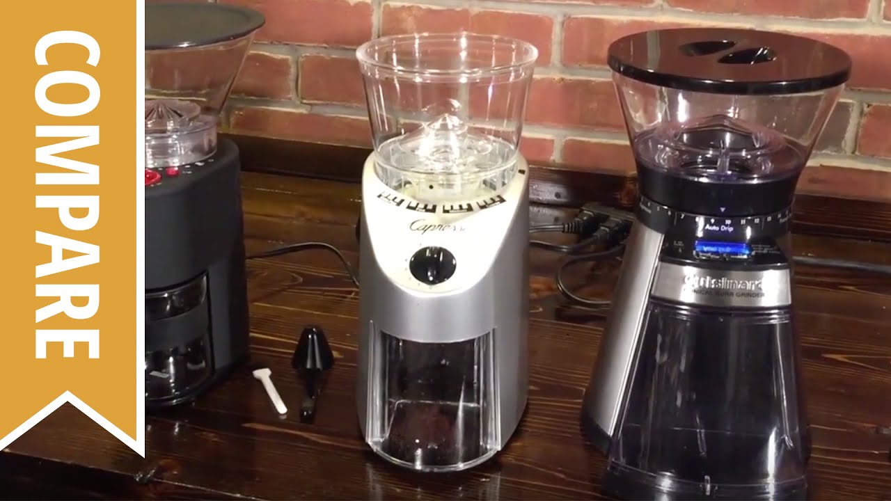 Compare Bodum Capresso And Cuisinart Burr Coffee Grinders Youtube