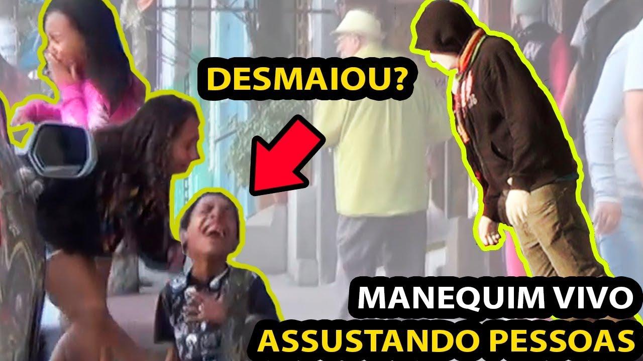 MANEQUIM VIVO ASSUSTANDO PESSOAS - O MELHOR SUSTO!