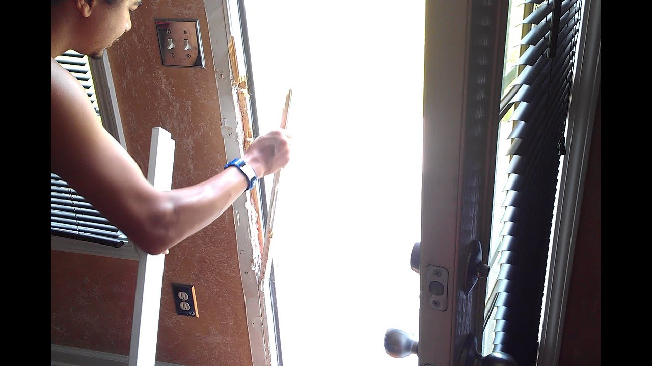 door frame replacement. How To Repair A Broken Door Jamb. Kicked In Repair. Jamb Armor Install. - YouTube Frame Replacement I