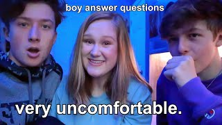 asking boys questions girls are too afraid to ask...