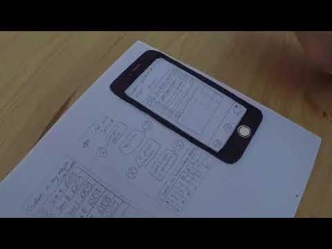 User testing: Department app paper prototype