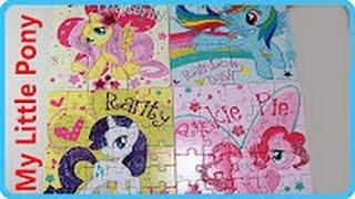 ✽ My Little Pony Игры для Девочек Пазлы 4 в 1 Развивающая Игра MLP unpucking
