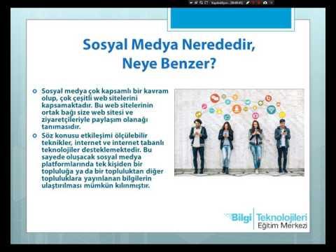 Bilgi Eğitim Sosyal Medya Eğitimi