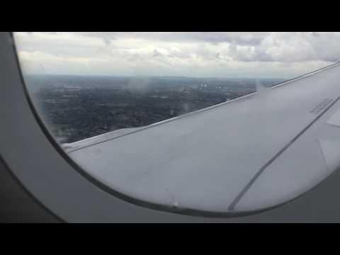 Landing at Birmingham international airport