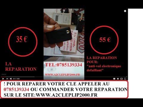 RÉPARER CLÉ TÉLÉCOMMANDE 307 206 407 308 C3 PICASSO C4 207 berlingo anti-vol electronique defaillant