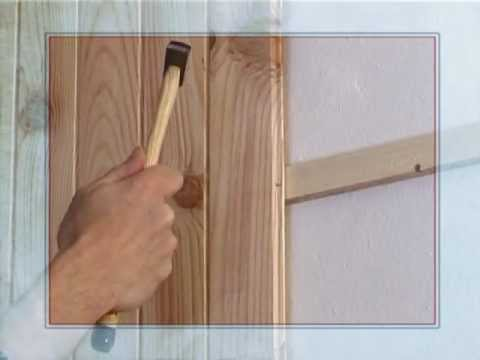bricolage pour debutant lambris youtube. Black Bedroom Furniture Sets. Home Design Ideas