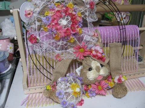 Carmen's 2019 ,Purple, ,Pink and Yellow Easter Bunny Wreath