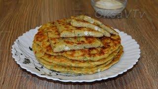 Ленивые хачапури на сковороде. Lazy khachapuri in the pan.