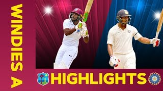 West Indies A vs India A - Match Highlights | 3rd Test - Day 2 | India A Tour of West Indies
