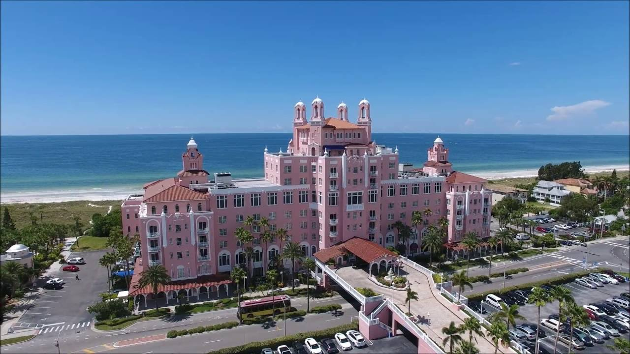 Drone Flight Of The Don Cesar Hotel And Beaches Long Key Florida