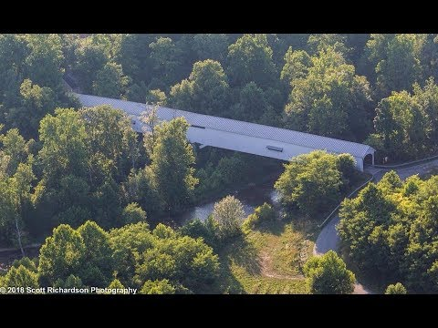 PPC Flight to Photograph Rush County, Indiana Covered Bridges - 7-13-18