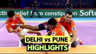 Pro Kabaddi 2019 Highlights[Hindi]: Dabang Delhi Beat Puneri Paltan | Sports Tak