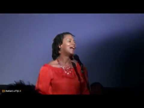 Lenora Zenzalai Helm sings at the Fiji international Jazz and Blues Festival 2012 Gala