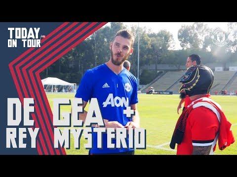 De Gea Meets Rey Mysterio! | Today on Tour | Watch Tour 2018 LIVE on MUTV!