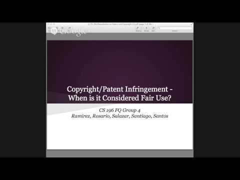 Copyright/Patent Infringement -- When Is It Considered Fair Use?