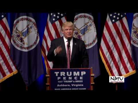NATV's coverage of The Donald Trump Rally at Briar Woods High School, Ashburn VA