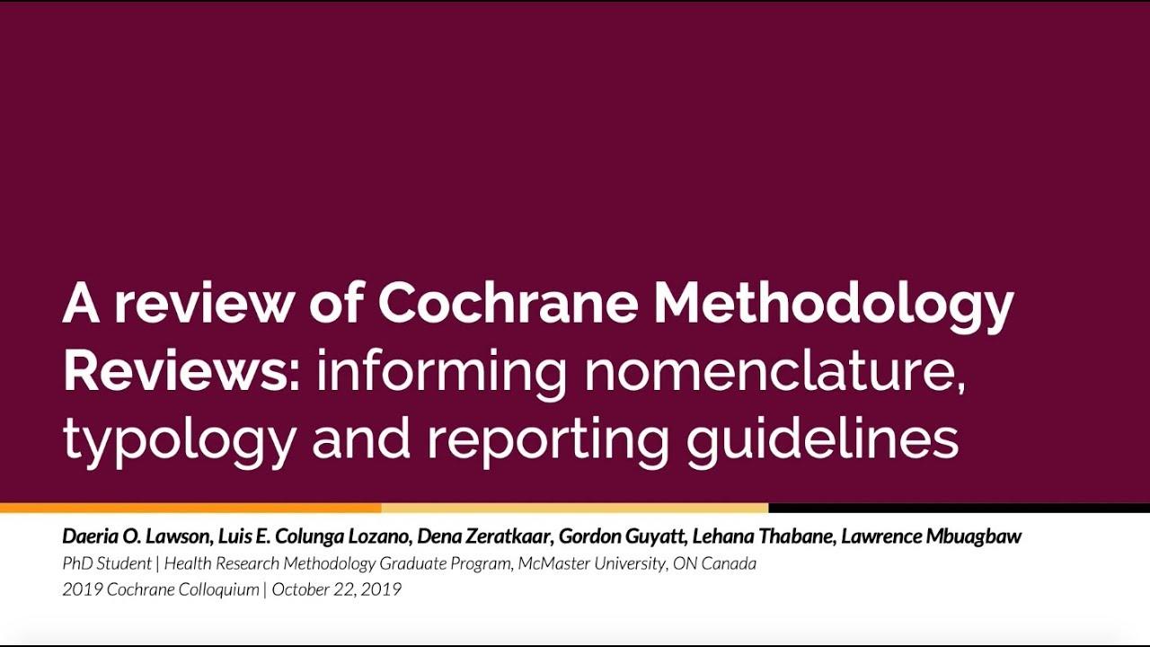 cochrane methodology