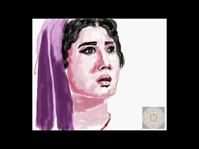 Speed Painting Of Meena Kumari  