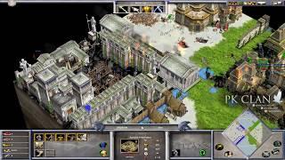 Age of Mythology: Scenario FFA 4 Player Tiny | The Best Base Construction!