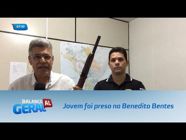 Jovem foi preso após perseguição policial no Benedito Bentes