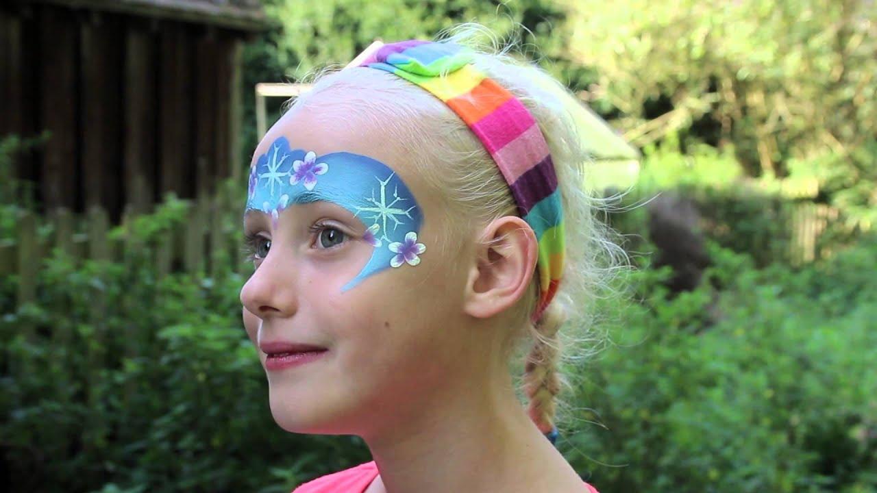 QUICK - Frozen Face Paint Tutorial - Elsa Snowflakes - YouTube