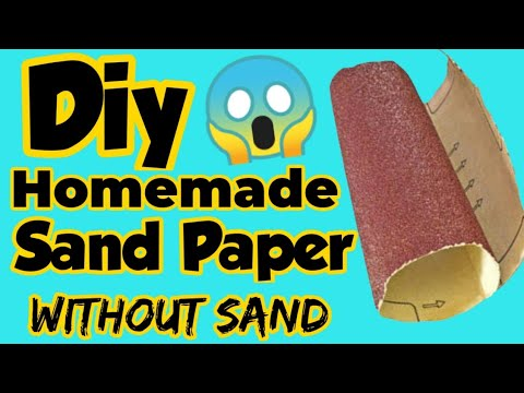 Diy Sand Paper 😱How to make Sandpaper at home/Make Sand Paper without Sand/Sand paper making at home