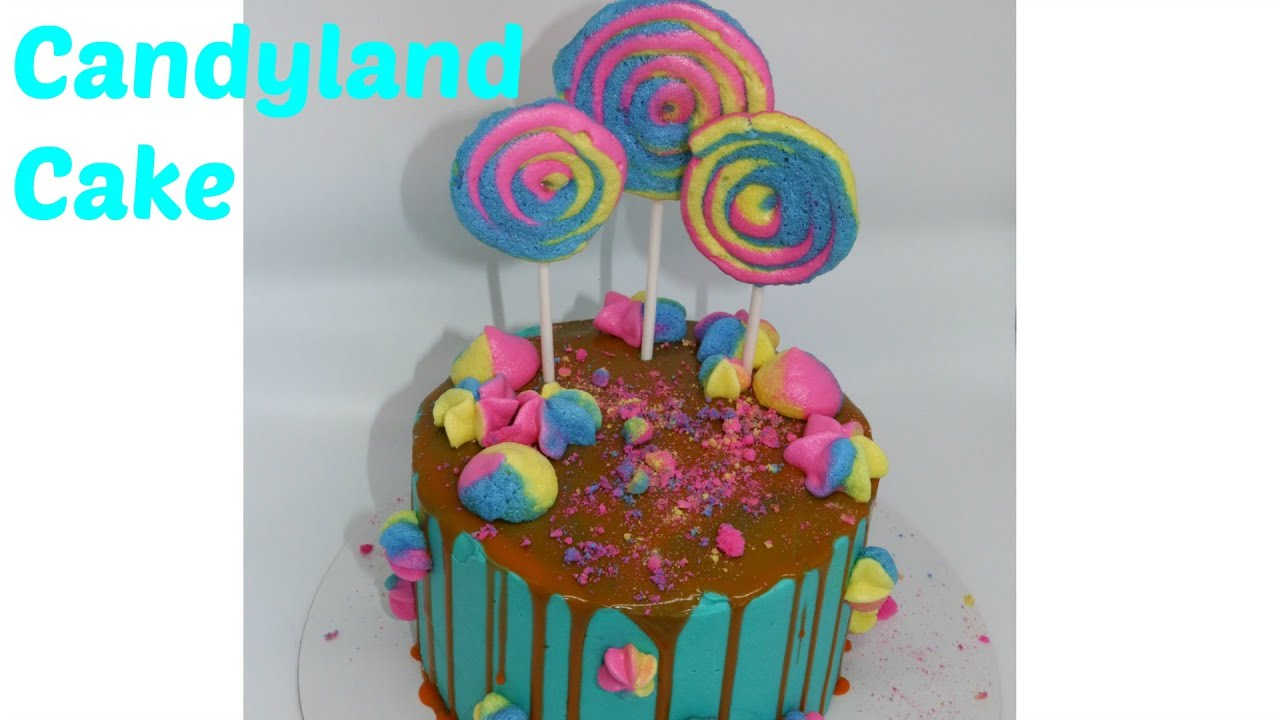 Lollipop Candy Land Inspired Cake   YouTube