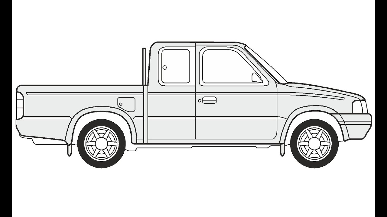 Uncategorized Easy To Draw Truck how to draw a ford ranger youtube