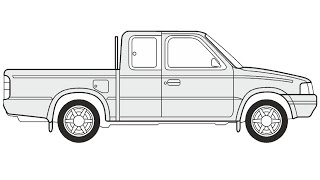 How to Draw a Ford Ranger / Как нарисовать Ford Ranger
