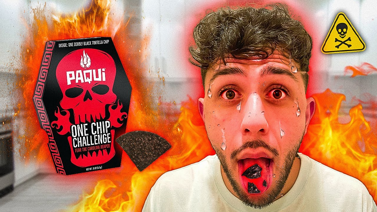 Eating the World's HOTTEST CHIP - One Chip Challenge