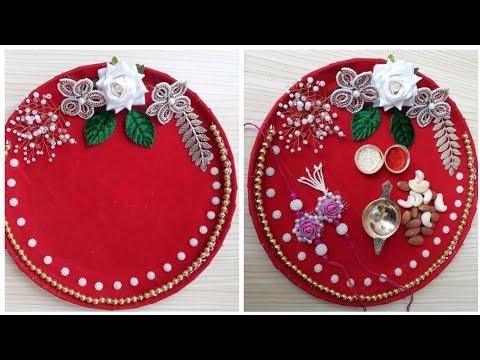 Plate Decoration Ideas Raksha Bandhan Thali Decoration Youtube