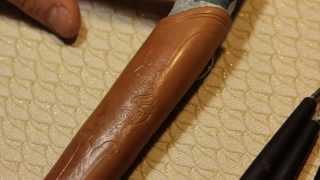 Видео-урок [1часть] от Альмова Мусы по тиснению ножен.