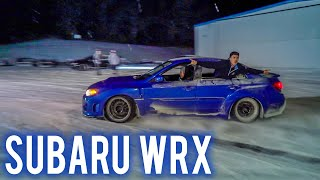 Drifting our Subarus in a SNOWSTORM!!!