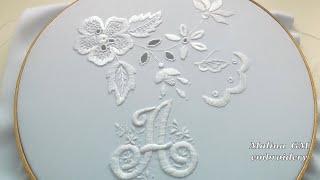 "Embroidery: monogram ""А"" || Вышивка: Монограмма ""А"""