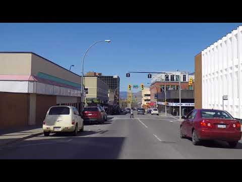 Driving In KAMLOOPS BC (British Columbia Canada) - City Centre/Downtown Area