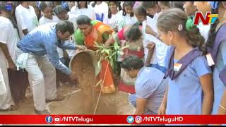 YCP MLA Roja Accepts TRS MP Santosh Green Challenge And Plants Trees