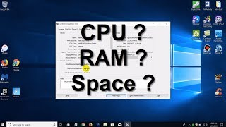 How to check laptop specs -  How much Laptop RAM/Memory? - Beginners (2019)