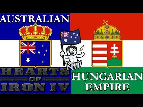 AUSTRALIAN HUNGARIAN EMPIRE - Hearts of Iron 4 30k Sub Special
