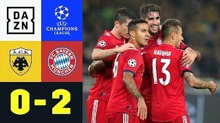 Javi Martinez und Robert Lewandowski erlösen FCB: AEK - FC Bayern 0:2 | UEFA CL | DAZN Highlights