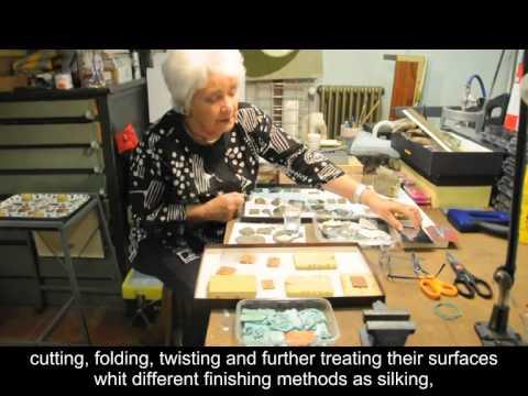 ADA GRILLI INTERVIEWS THE ARTIST TERESA ARSLAN AT WORK, ITALY, BERGAMO, SEPT. 2014