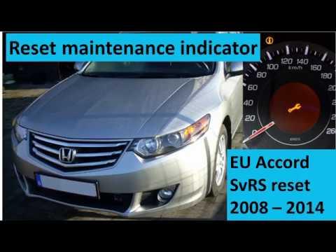 Honda Accord maintenance light reset SvRS