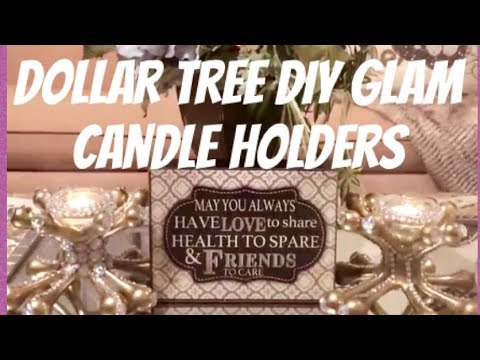 Dollar Tree DIY Home Decor Glam Candle Holders: DIY Room Decor Ideas Bling Glam Elegance For Less