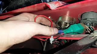 подключение датчика и указателя температуры охлаждающей жидкости