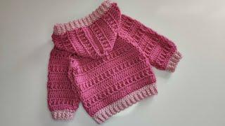 Crochet #48 How t๐ crochet a baby hoodie /Part 1