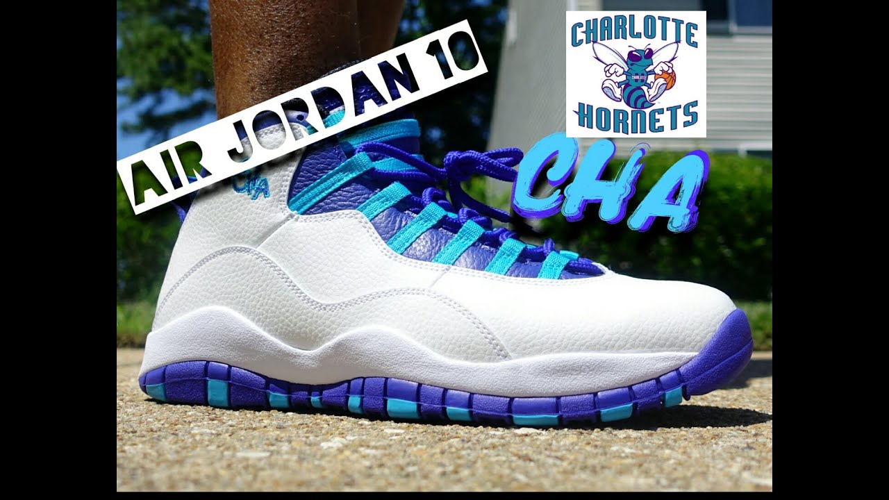 74a5e0580f0d40 ... ireland air jordan 10 charlotte city pack on foot youtube 5be5a fd729