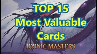 iconic masters top 15 most valuable cards magic the gathering price guide dec 2017 mana drain