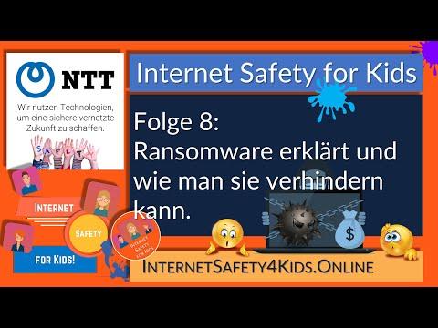 Internet Safety for Kids Folge 8 - Ransomware erklärt und wie man sie verhindern kann.