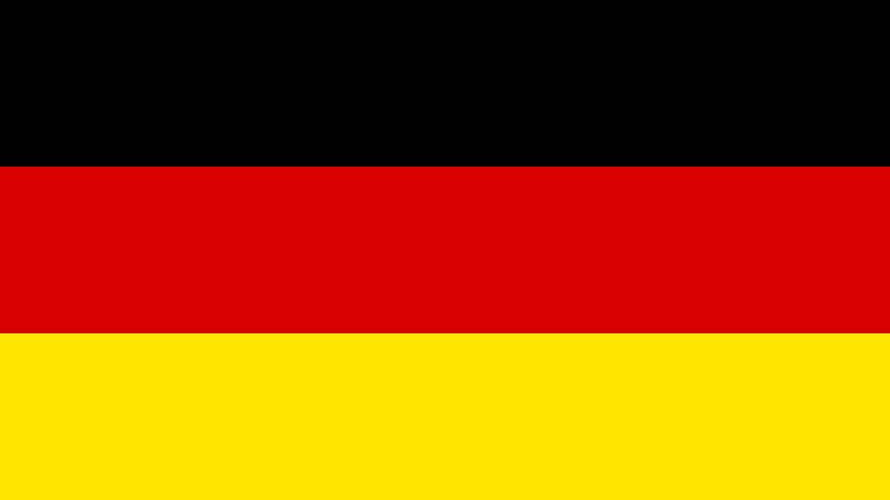 Bandera E Himno Nacional De Alemania